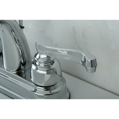 "Kingston Brass Chrome 2 Handle 4"" Centerset Bathroom Faucet with Pop-up KB5611FL"