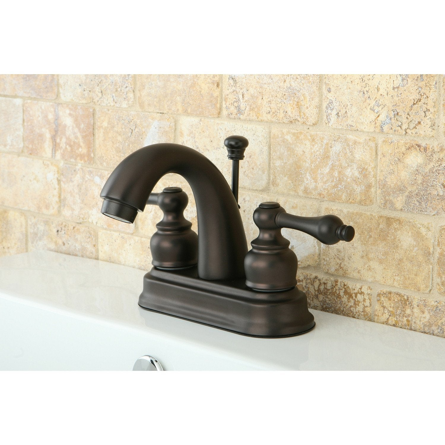 "Kingston Oil Rubbed Bronze 2 Handle 4"" Centerset Bathroom Faucet KB5615AL"