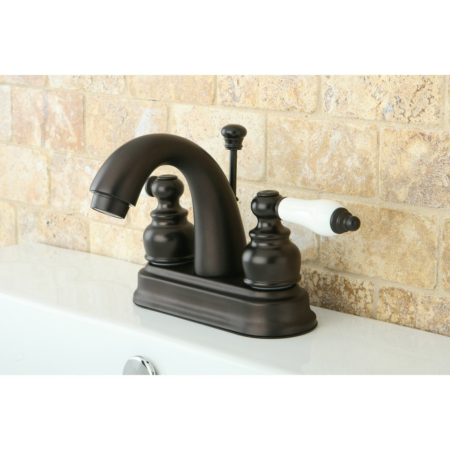 "Kingston Oil Rubbed Bronze 2 Handle 4"" Centerset Bathroom Faucet KB5615PL"