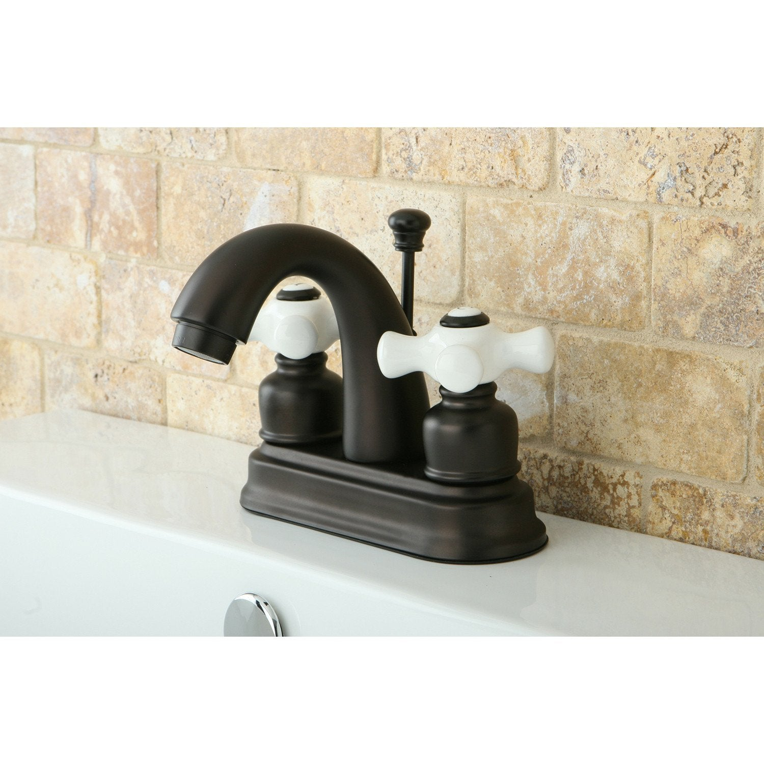 "Kingston Oil Rubbed Bronze 2 Handle 4"" Centerset Bathroom Faucet KB5615PX"
