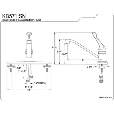 Kingston Brass Chrome Single Handle Kitchen Faucet KB571