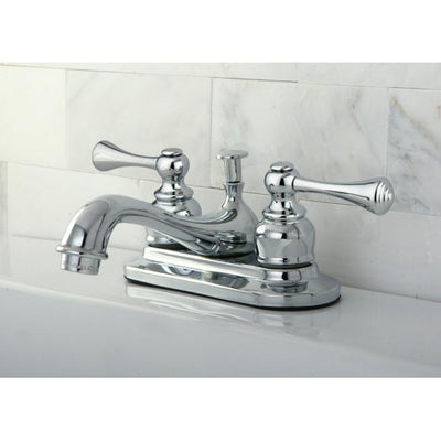 "Kingston Brass Chrome English Vintage 4"" Centerset Bathroom Faucet KB601BL"