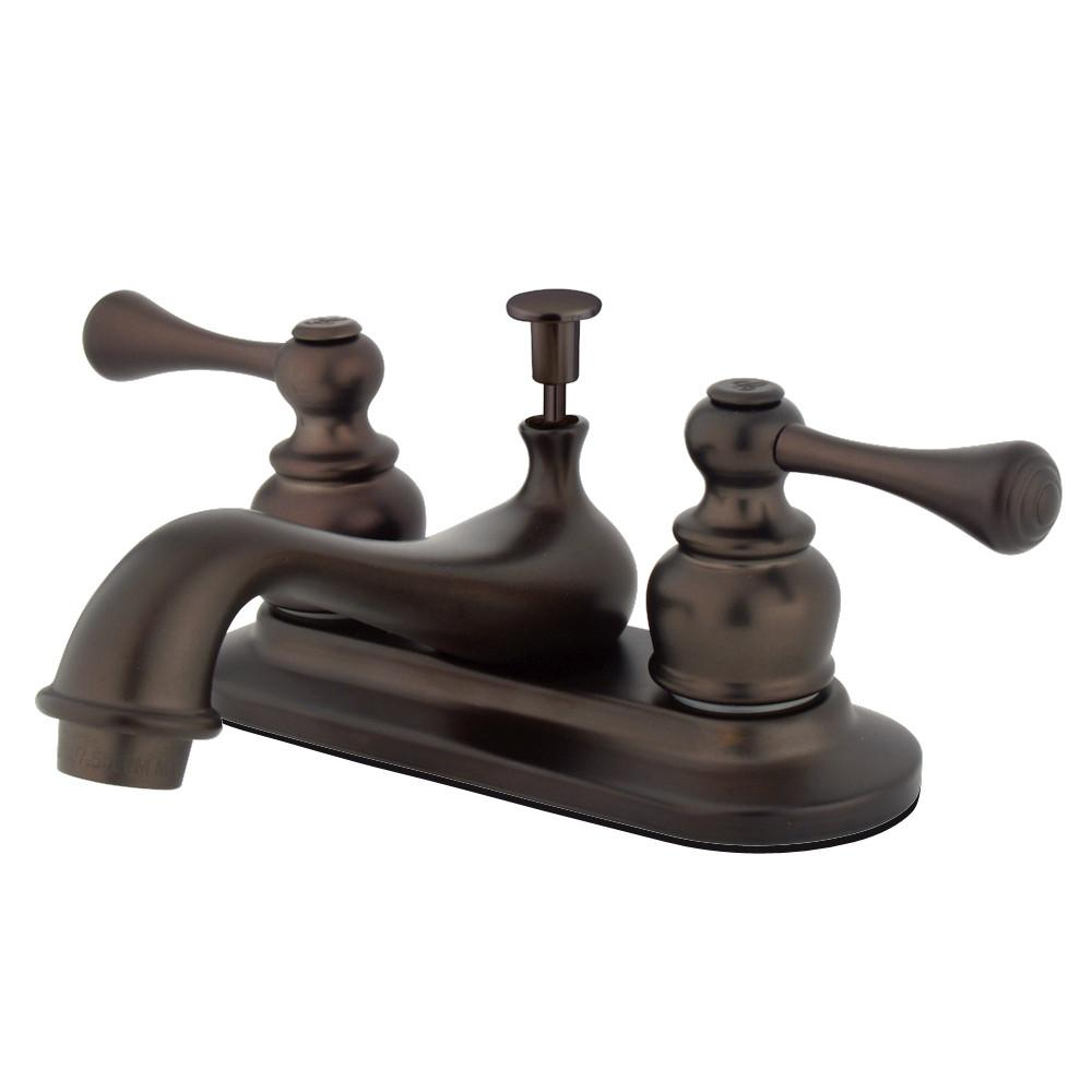 "Kingston Oil Rubbed Bronze English Vintage 4"" Centerset Bathroom Faucet KB605BL"