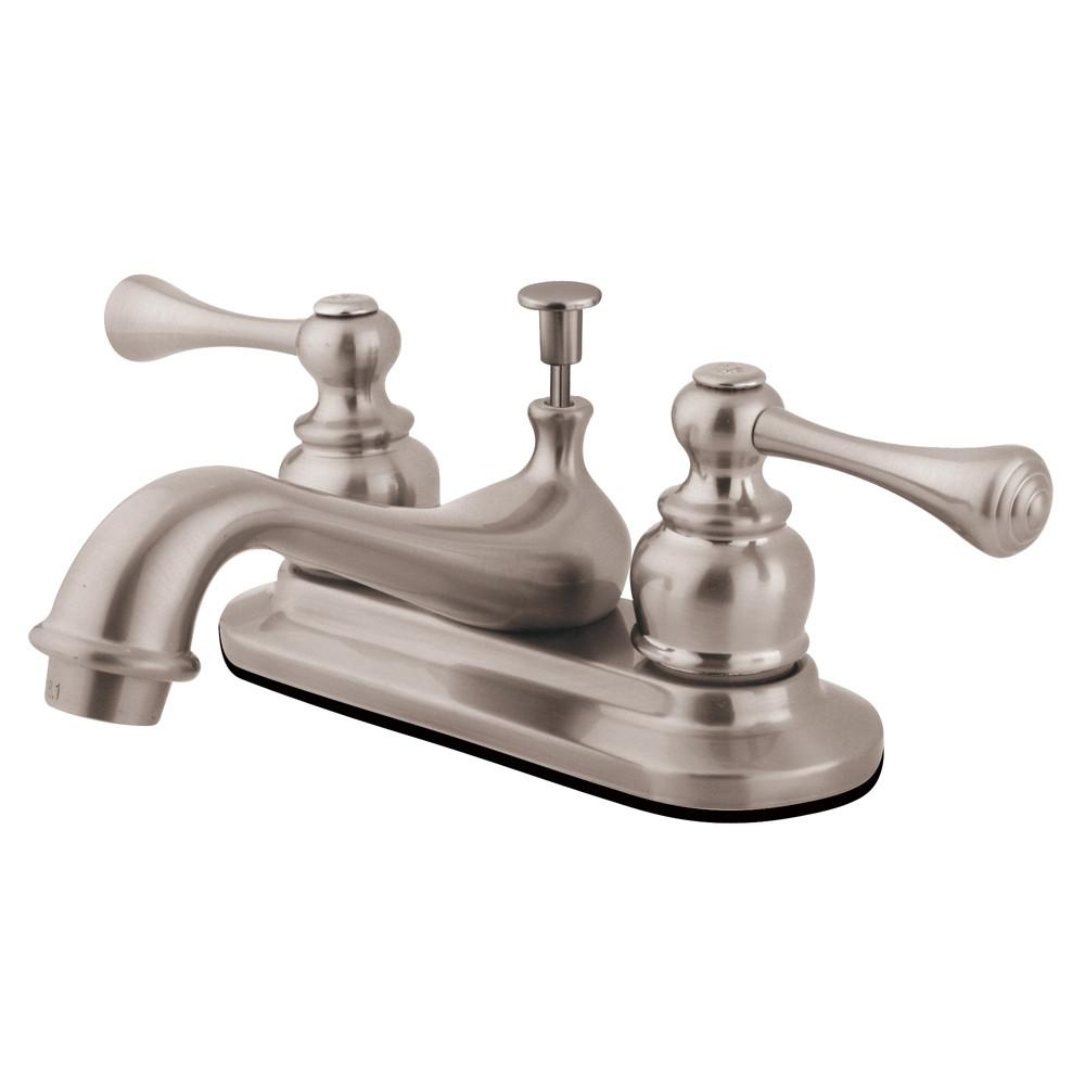"Kingston Brass Satin Nickel English Vintage 4"" Centerset Bathroom Faucet KB608BL"