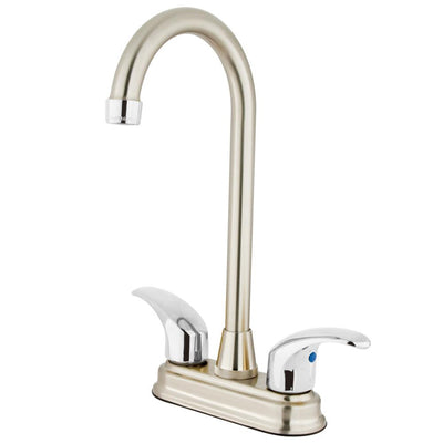 "Kingston Brass Chrome Two Handle 4"" Centerset Bar Prep Sink Faucet KB6497LL"