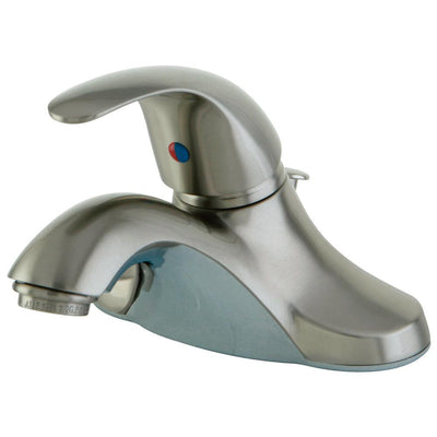 "Kingston Satin Nickel Single Handle 4"" Centerset Bathroom Faucet KB6548"