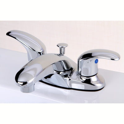 "Kingston Chrome 2 Handle 4"" Centerset Bathroom Faucet with Pop-up KB6621LL"