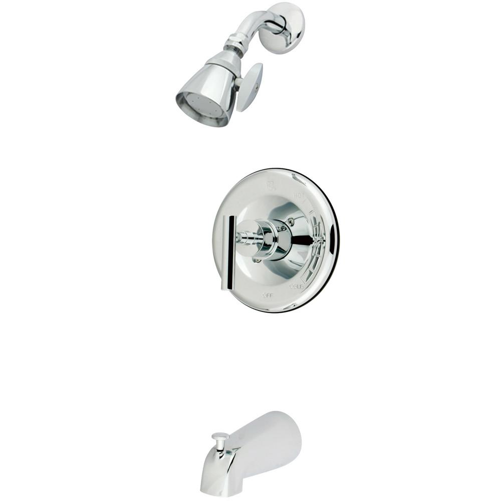 Kingston Brass Chrome Manhattan tub & shower faucet combination KB6631CML