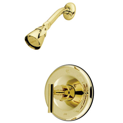 Kingston Polished Brass Manhattan tub & shower faucet, shower only KB6632CMLSO