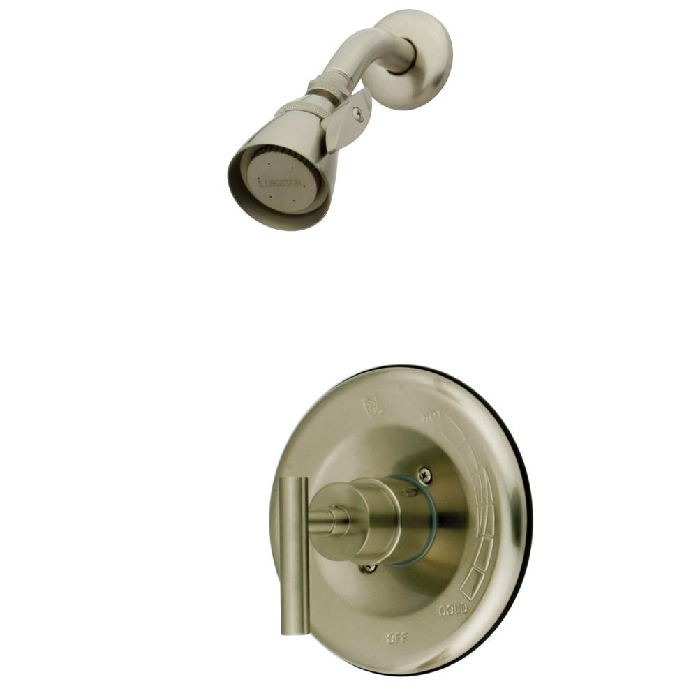 Kingston Satin Nickel Manhattan tub & shower faucet, shower only KB6638CMLSO