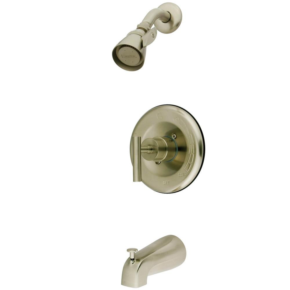 Kingston Brass Satin Nickel Manhattan tub & shower faucet combination KB6638CML