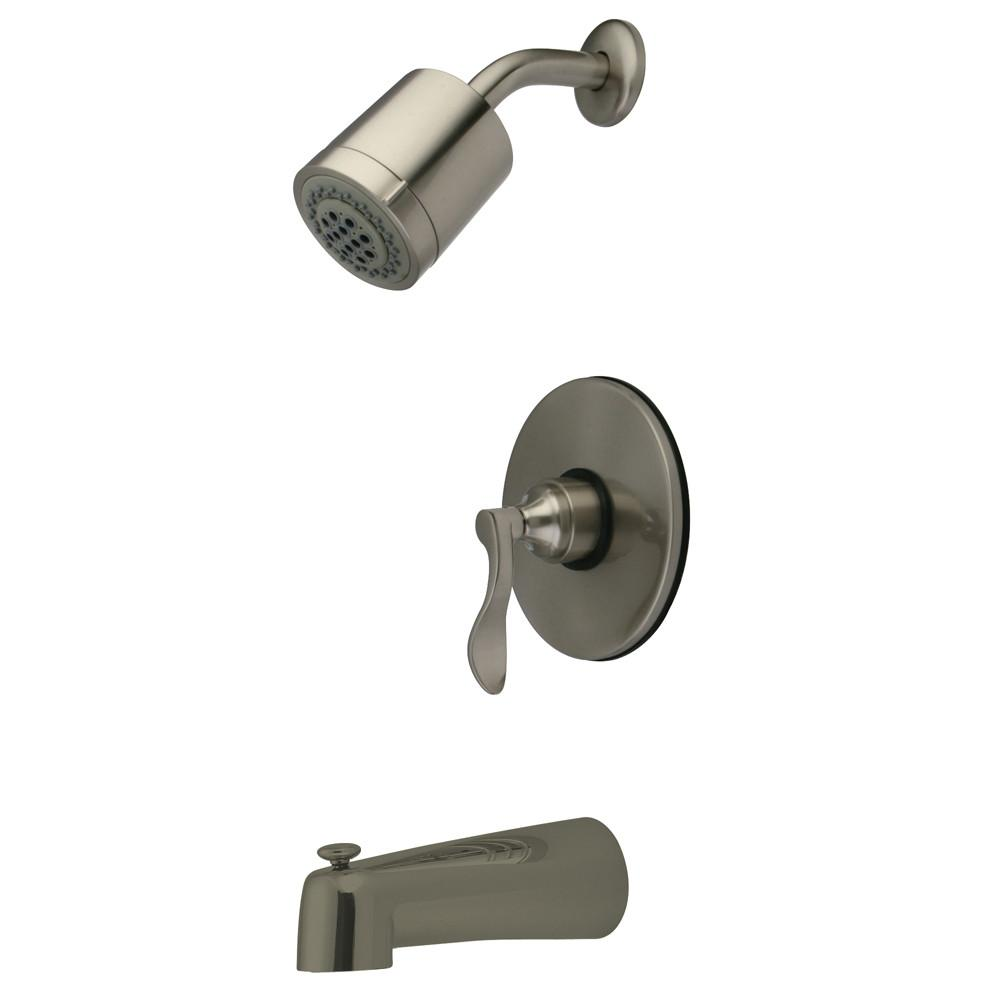 Nu French Satin Nickel Single Handle Tub & Shower Combo Faucet KB6698DFL