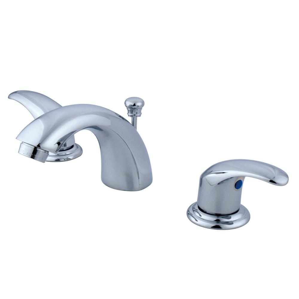 "Kingston Chrome 2 Handle 4"" to 8"" Mini Widespread Bathroom Faucet KB6951LL"