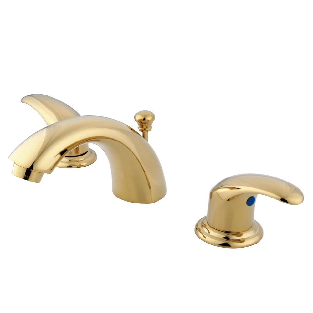 "Kingston Polished Brass 4""-8"" Mini Widespread Bathroom Faucet w Pop-up KB6952LL"