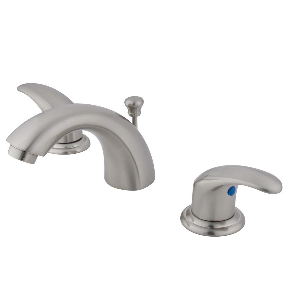 "Kingston Satin Nickel 4""-8"" Mini Widespread Bathroom Faucet w Pop-up KB6958LL"