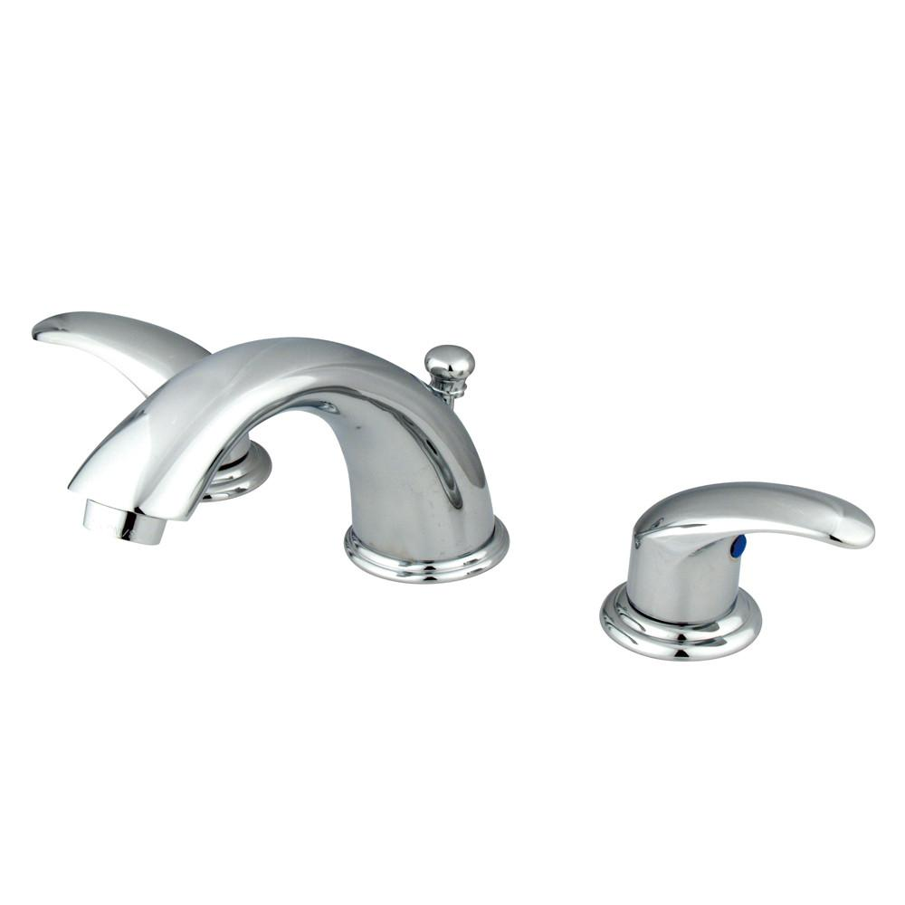 Kingston Brass Chrome 2 Handle Widespread Bathroom Faucet w Pop-up KB6961LL