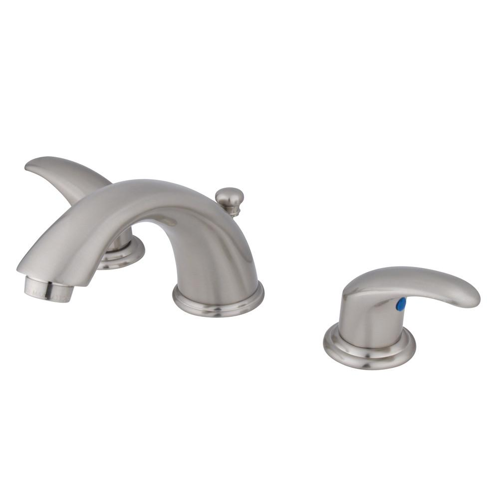 Kingston Satin Nickel 2 Handle Widespread Bathroom Faucet w Pop-up KB6968LL