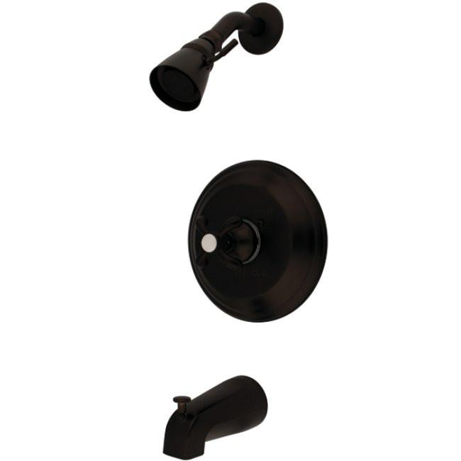 Kingston Oil Rubbed Bronze French Country Tub & Shower Combo Faucet KB7635TX