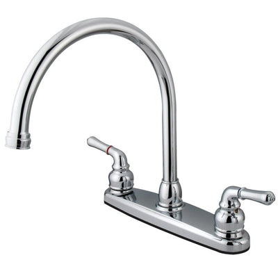 "Kingston Brass Chrome Magellan 8"" 2 handle kitchen faucet KB790"
