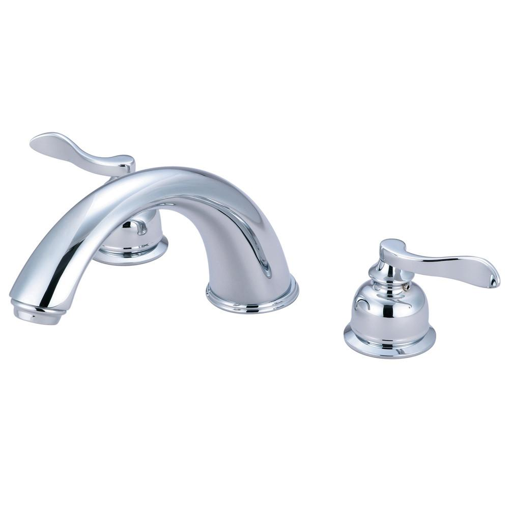 Kingston Brass Chrome NuWave French Two Handle Roman Tub Filler Faucet KB8361NFL