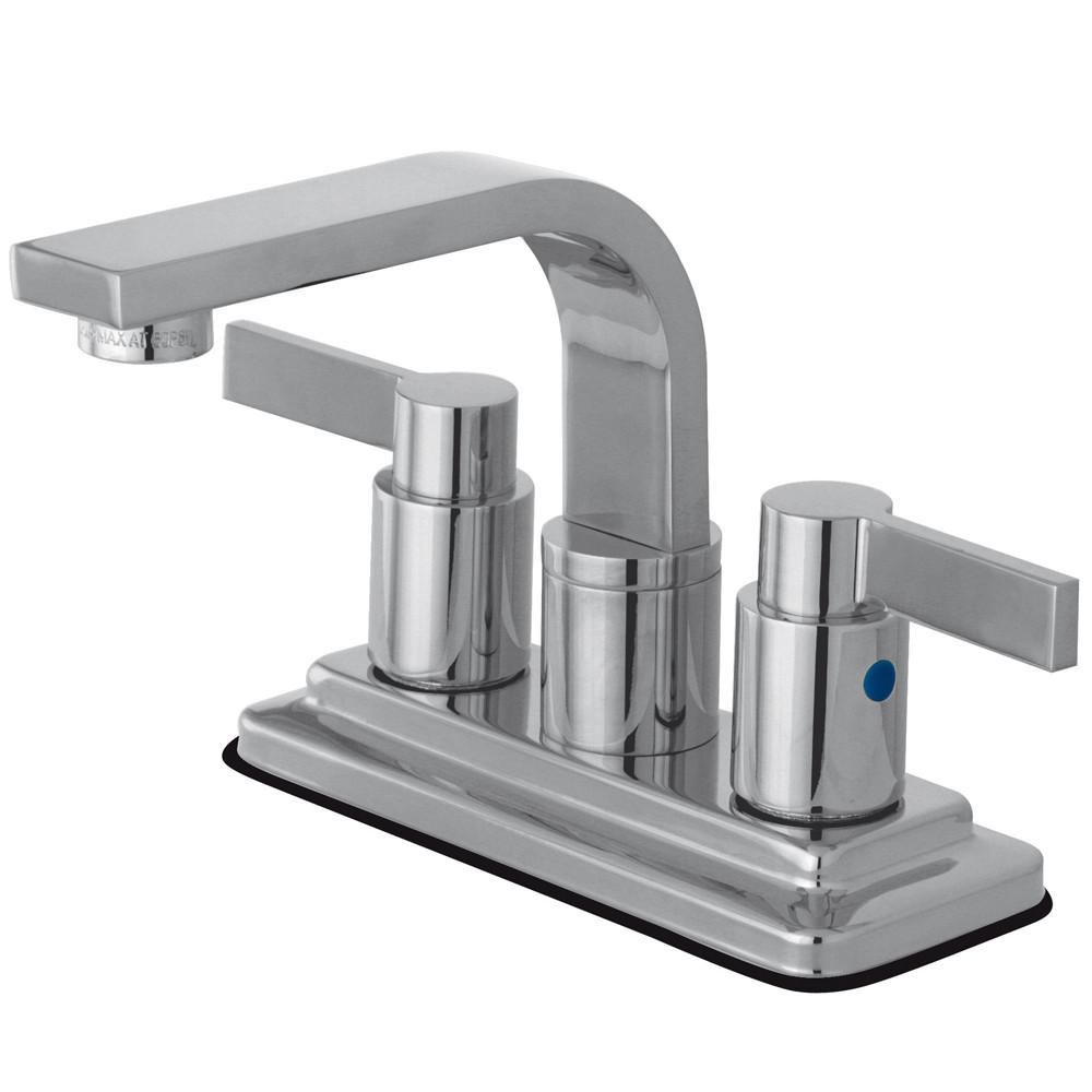 "Kingston Chrome NuvoFusion 4"" Centerset bathroom Faucet w/ Pop-Up KB8461NDL"
