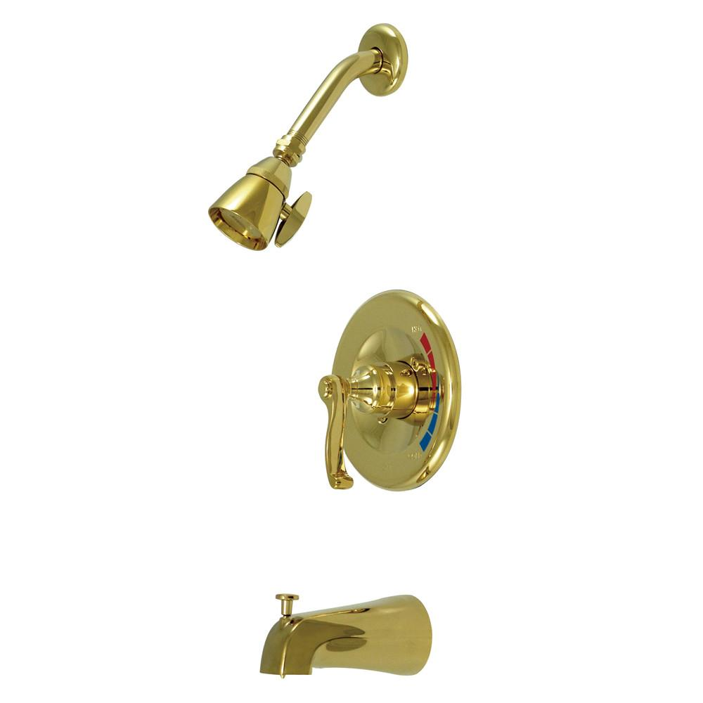 Kingston Royale Polished Brass 1 Handle Tub & Shower Combination Faucet KB8632FL
