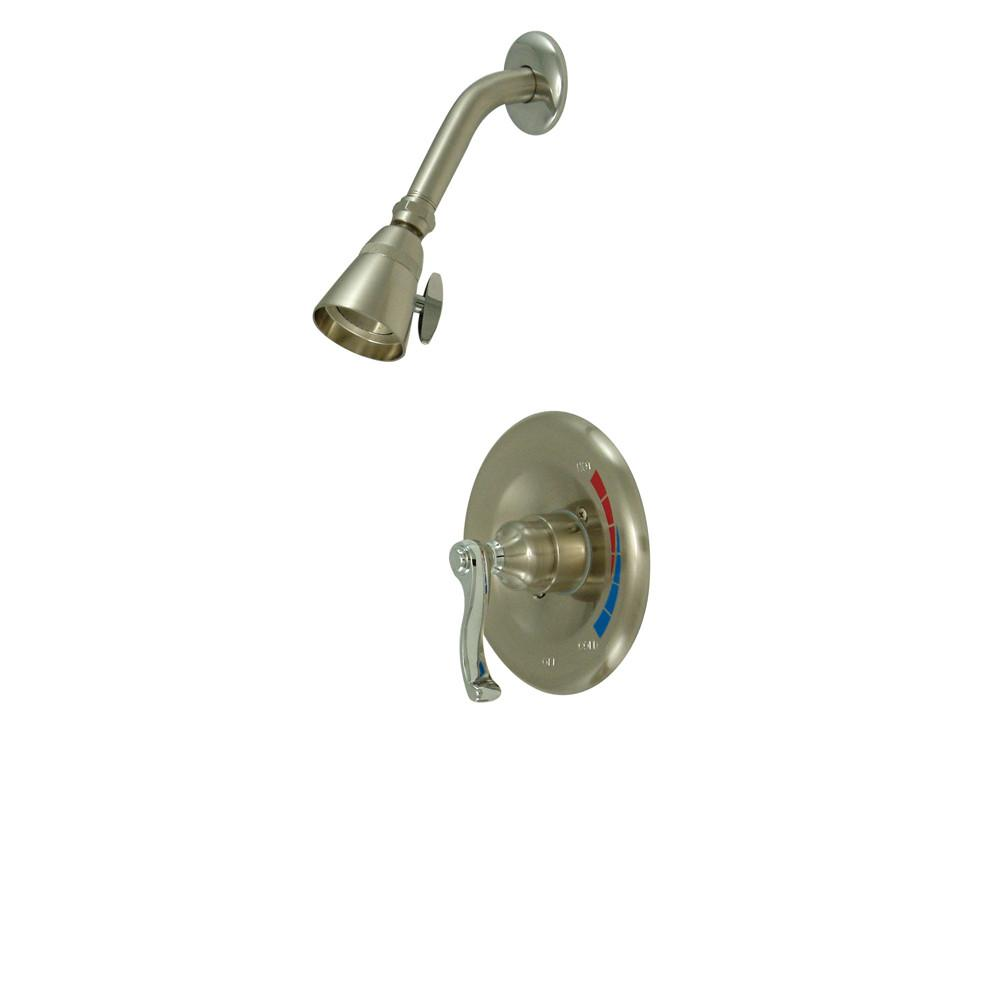 Kingston Royale Satin Nickel/Chrome Single Handle Shower Only Faucet KB8637FLSO