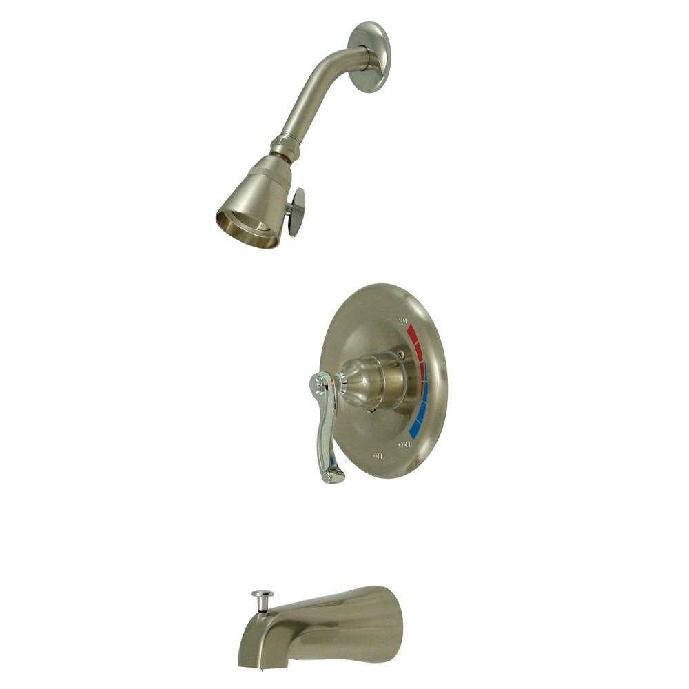 Satin Nickel/Chrome Single Handle Tub & Shower Combination Faucet KB8637FL