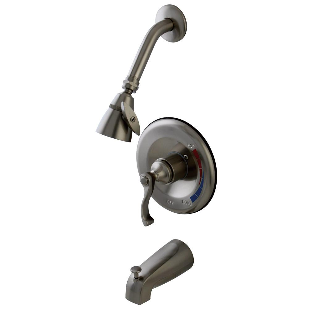 Kingston Satin Nickel Single Handle Tub & Shower Combination Faucet KB8638FL