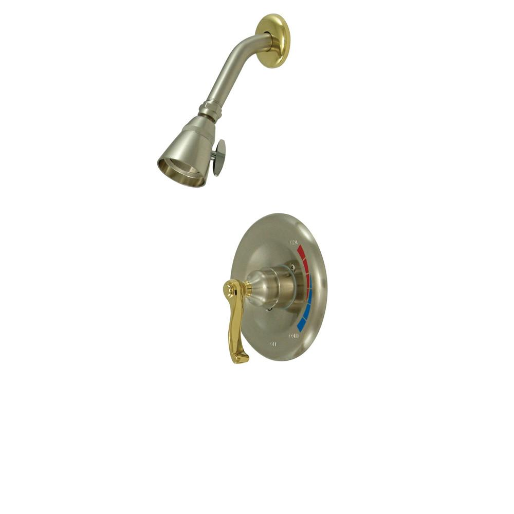 Kingston Satin Nickel/Polished Brass Single Handle Shower Only Faucet KB8639FLSO