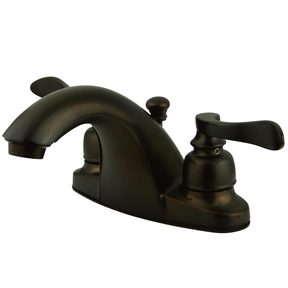 Kingston Oil Rubbed Bronze NuWave French centerset bathroom faucet KB8645NFL