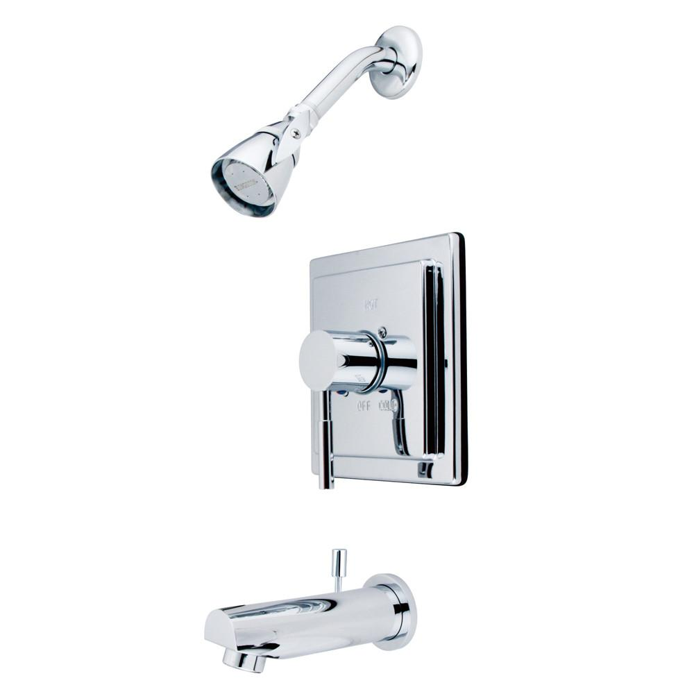 Kingston Brass Concord Chrome Single Handle Tub & Shower Faucet KB8651DL