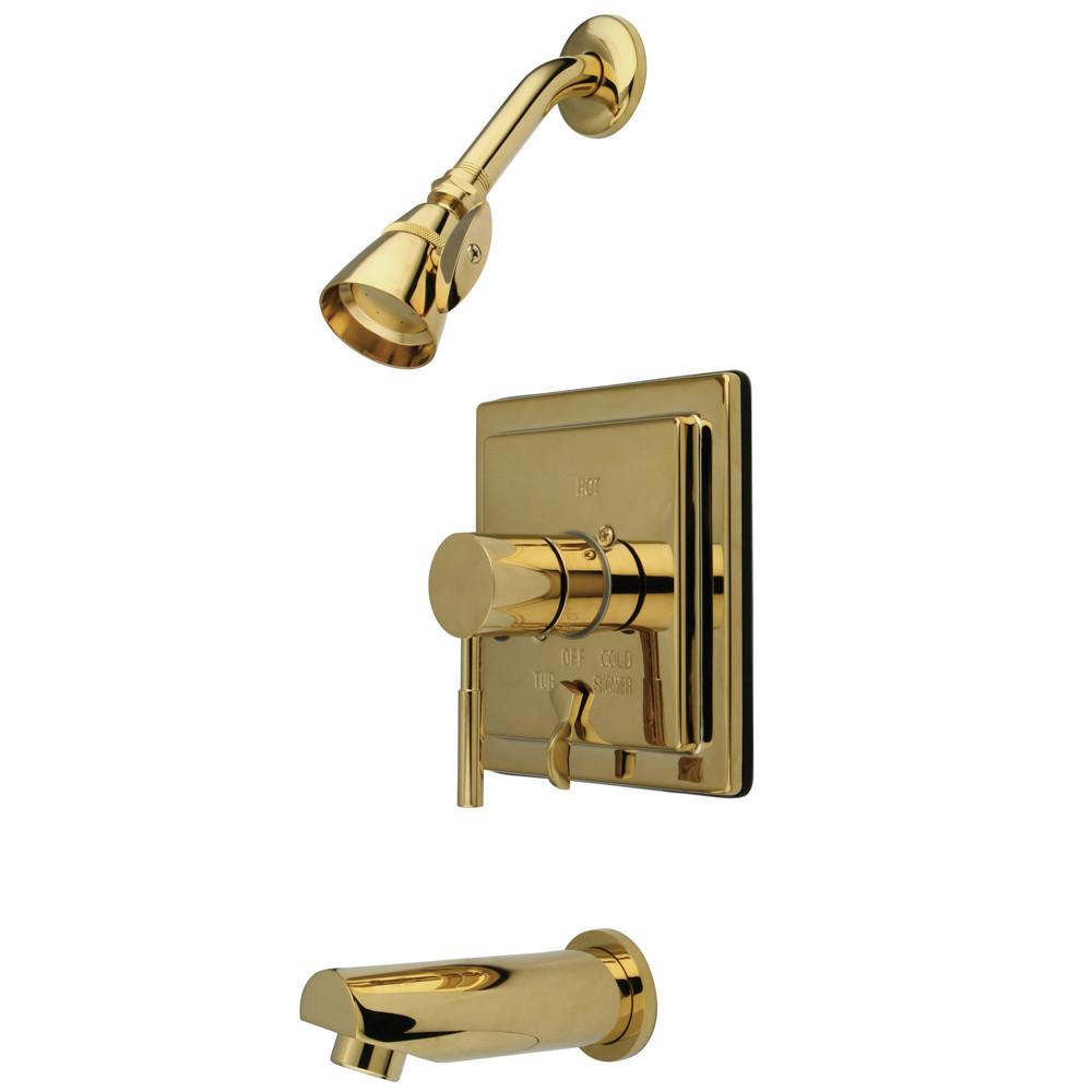 Kingston Concord Polished Brass Single Handle Tub & Shower Faucet KB86520DL