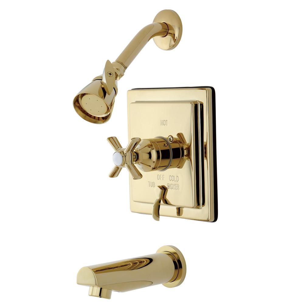 Kingston Brass KB86520ZX Tub and Shower Combination Faucet Polished Brass
