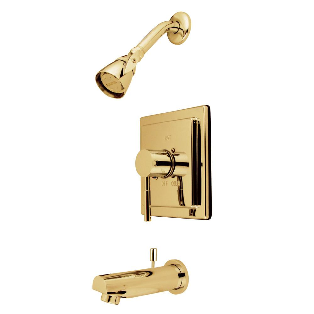 Kingston Brass Concord Polished Brass Single Handle Tub & Shower Faucet KB8652DL