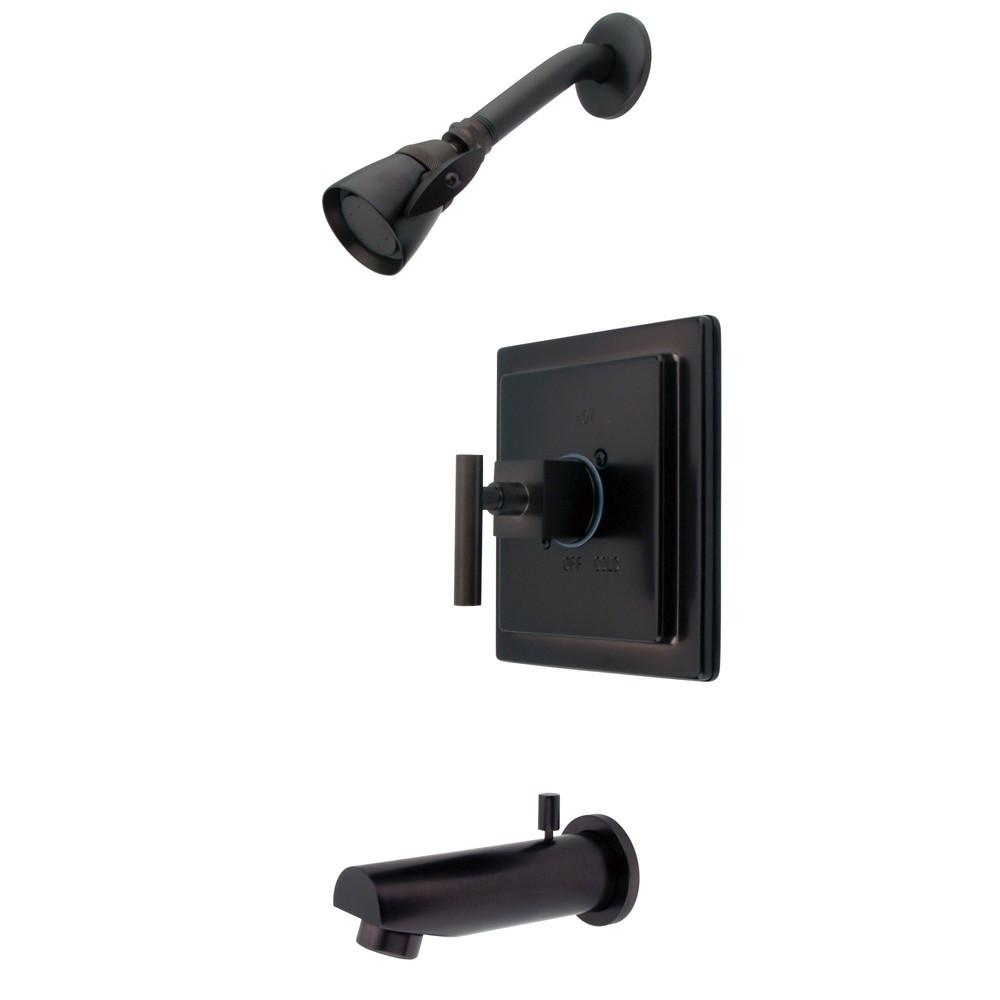 Claremont Oil Rubbed Bronze Tub and Shower Combination Faucet KB8655CQL