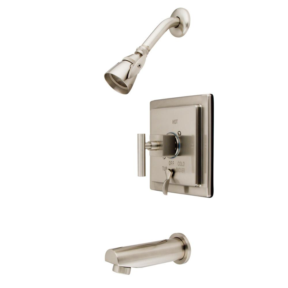 Kingston Brass Claremont Satin Nickel Tub & Shower Combination Faucet KB86580CQL