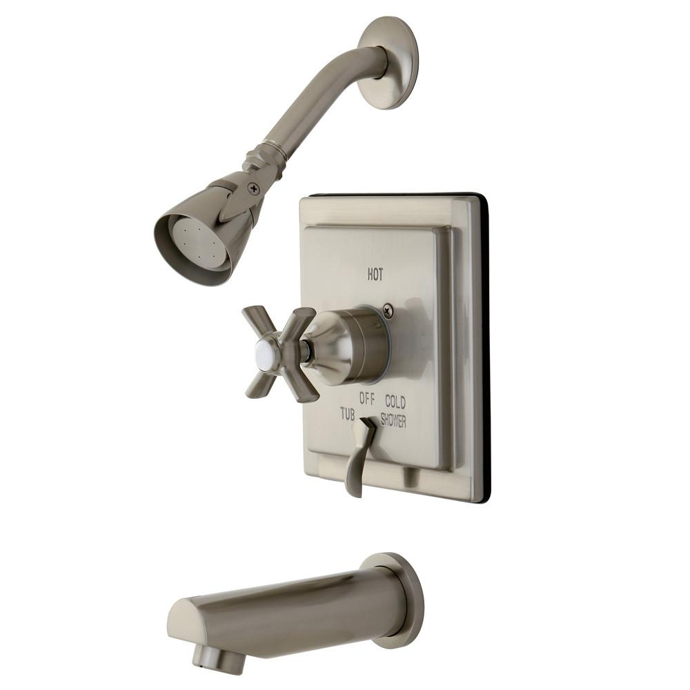 Kingston Brass KB86580ZX Tub and Shower Combination Faucet Satin Nickel