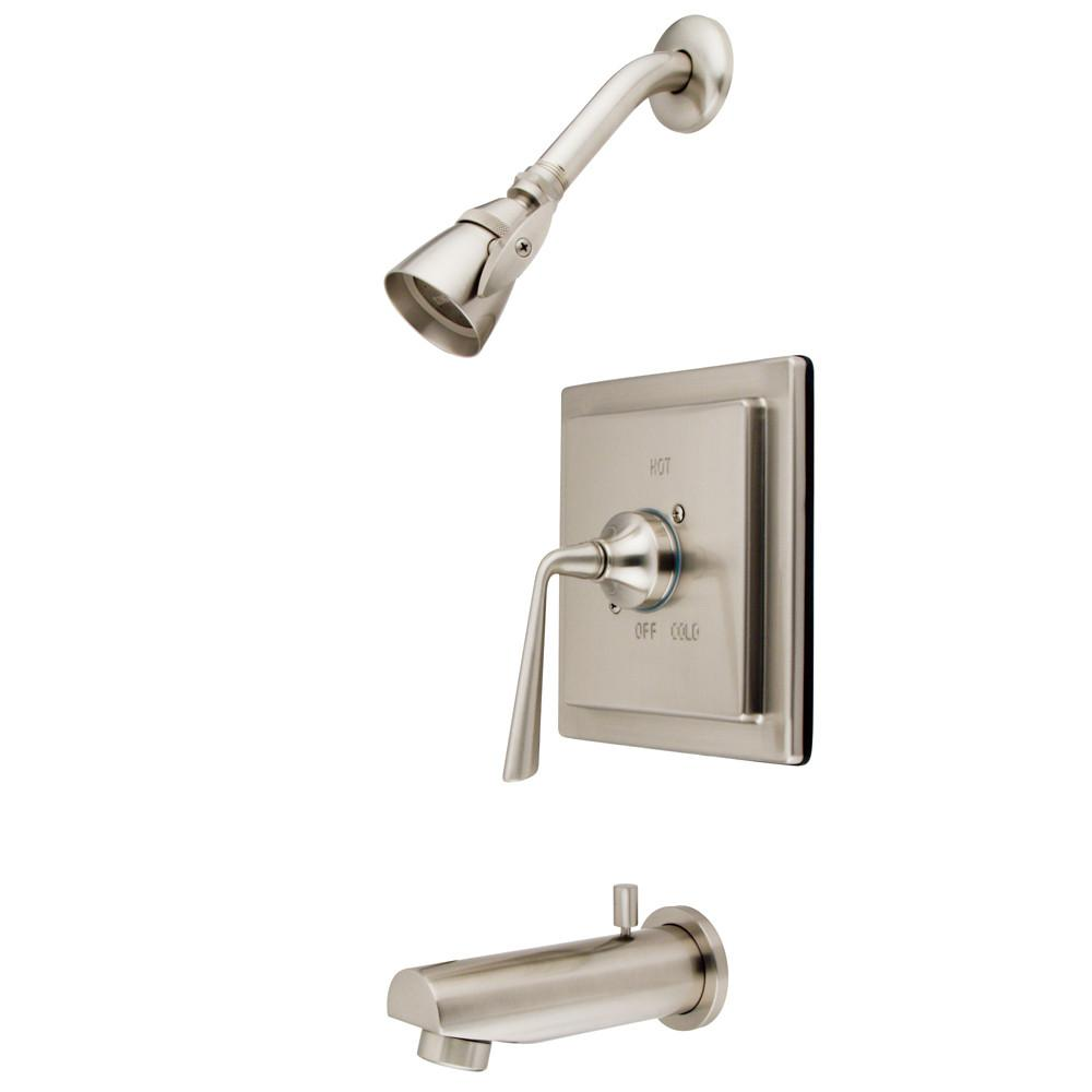 Kingston Brass Silver Sage Satin Nickel Tub & Shower Combination Faucet KB8658ZL