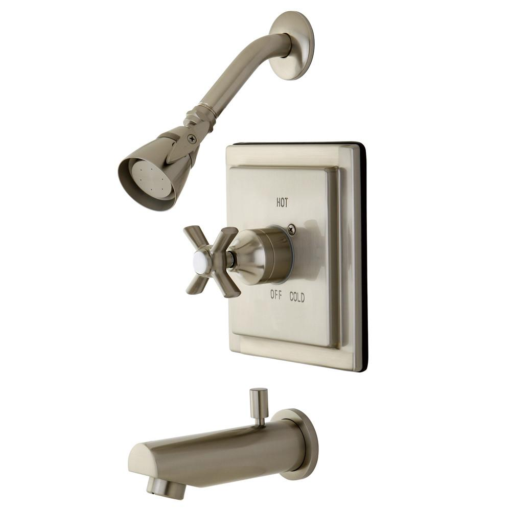 Kingston Brass KB8658ZX Tub and Shower Combination Faucet Satin Nickel