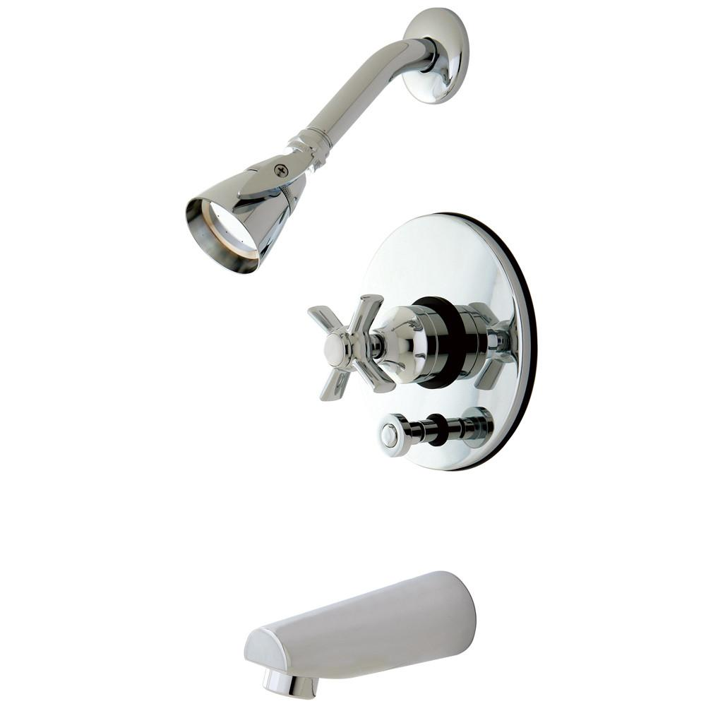 Kingston Brass KB86910ZX Tub and Shower Combination Faucet Polished Chrome