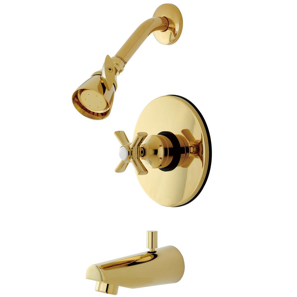 Kingston Brass KB8692ZX Tub and Shower Combination Faucet Polished Brass
