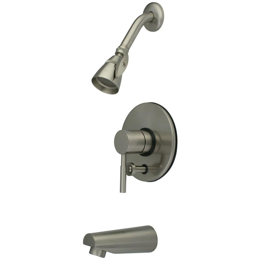 Kingston Brass Concord Satin Nickel Single Handle Tub & Shower Faucet KB86980DL