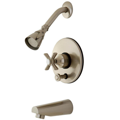 Kingston Brass KB86980ZX Tub and Shower Combination Faucet Satin Nickel