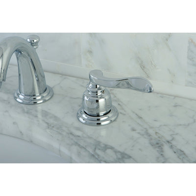 Kingston Chrome NuWave French mini widespread bathroom faucet KB8911NFL