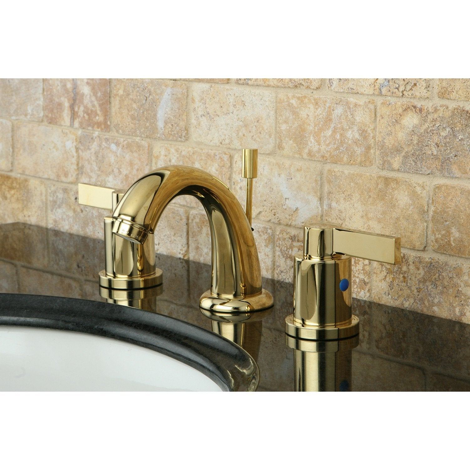 Polished Brass NuvoFusion Mini Widespread bathroom Faucet KB8912NDL