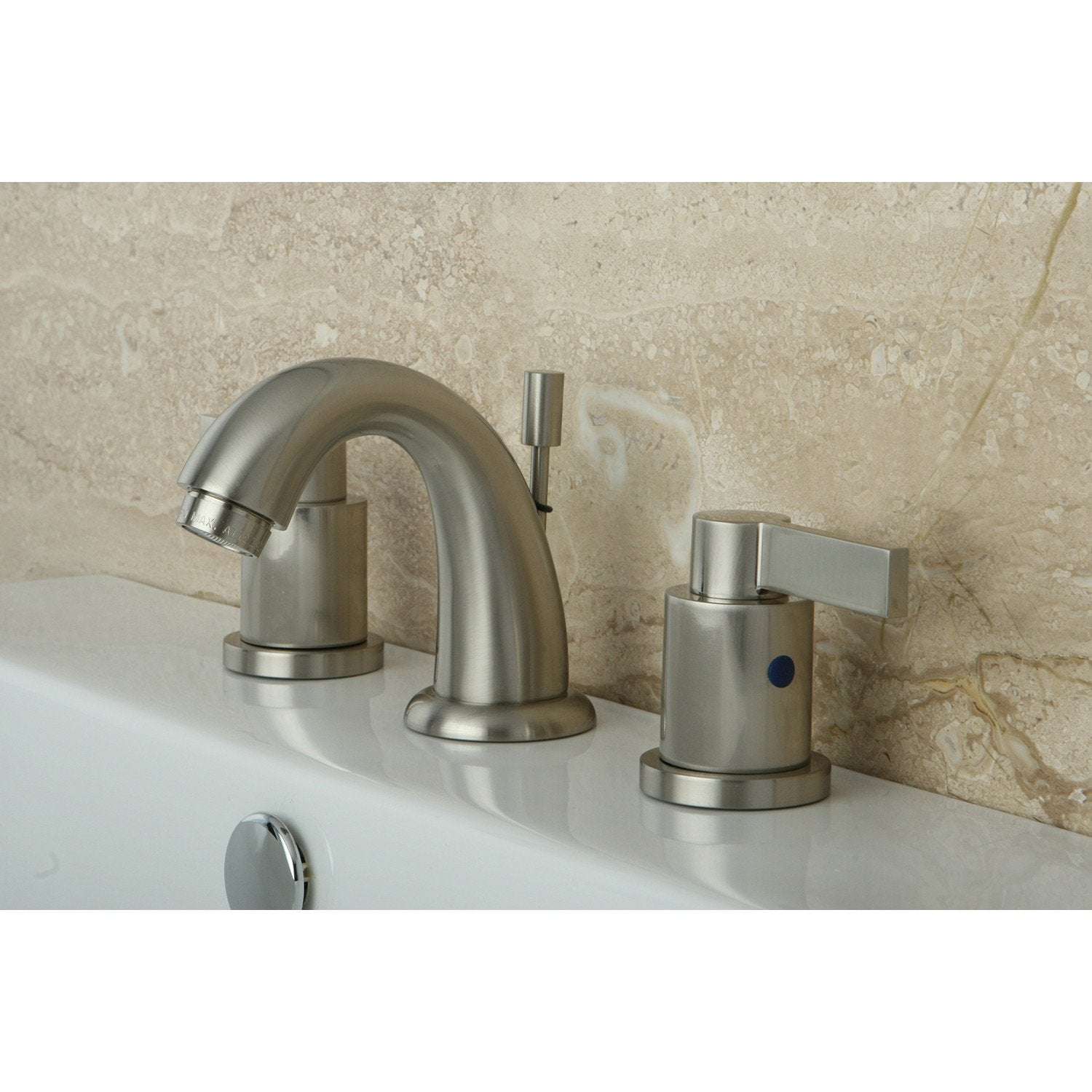 Satin Nickel NuvoFusion Mini Widespread bathroom Faucet KB8918NDL