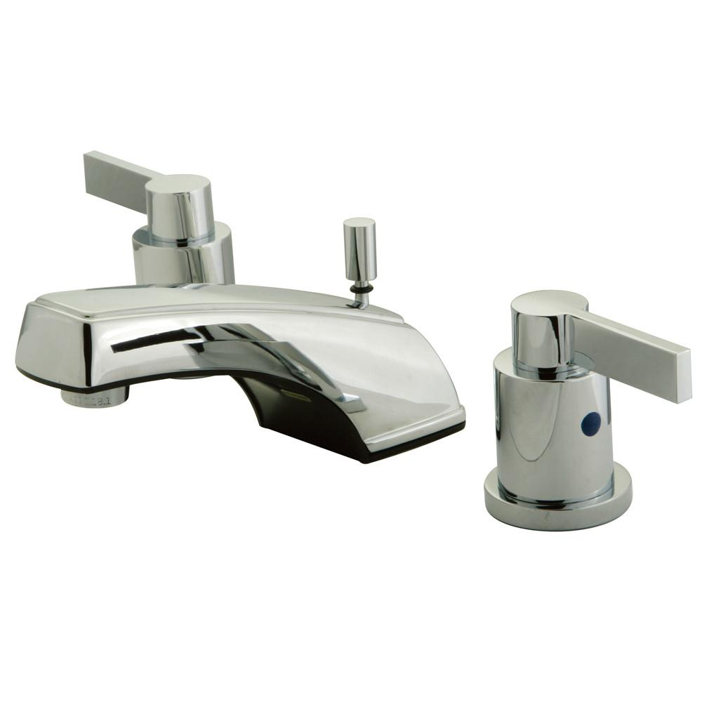 "Kingston Chrome 2 Handle 4"" to 16"" Widespread Bathroom Faucet w Pop-up KB8921NDL"