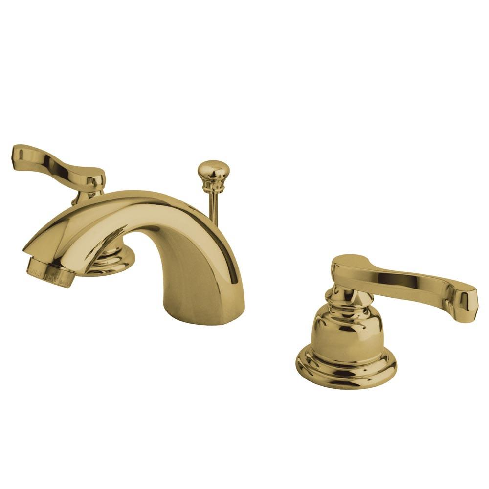 "Kingston Polished 2 Handle 4""-8"" Mini Widespread Bathroom Faucet KB8952FL"