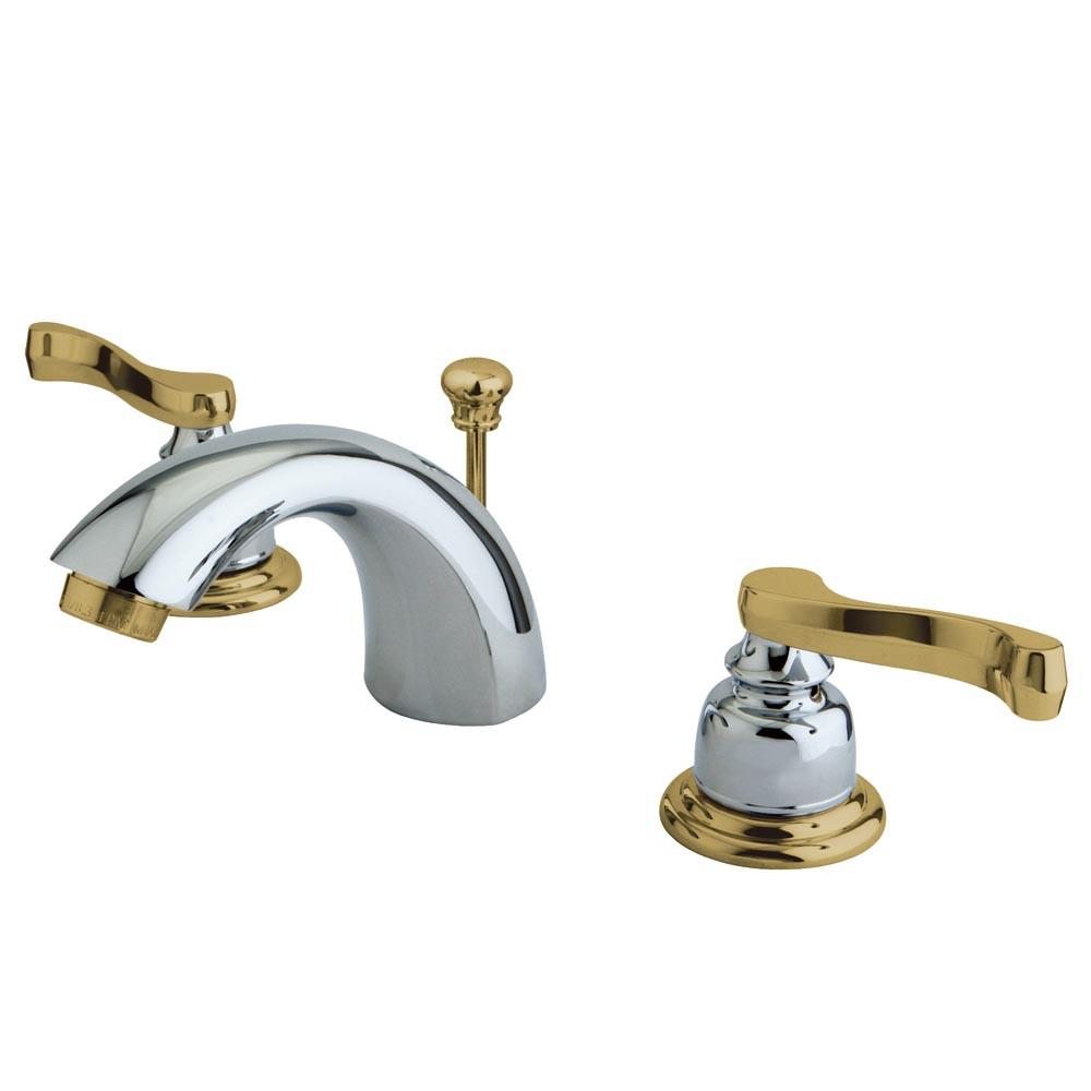 "Kingston Satin Nickel 4""-8"" Mini Widespread Bathroom Faucet w Pop-up KB8954FL"